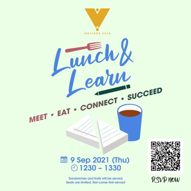 Continue with the good vibes in last Lunch & Learn, we have decided to keep it rolling! On 9 Sept, next Thursday, we have invited a company in medical congress of the aesthetics industry and an innovative print house to share with us their unique business journey. Register now through the #linkinbio or visit https://bit.ly/3zKjOxe to know more about the opportunities and challenges facing by these two very different businesses!  --------------------- Mustard Seed provides all-round services including Hot Desk, Dedicated Desk, Private Office, Meeting Rooms, Event Spaces & Live Streaming, please visit our website (www.mustardseed.space) for more information or simply call us at +852 2376 3833 for any inquiries! ⠀